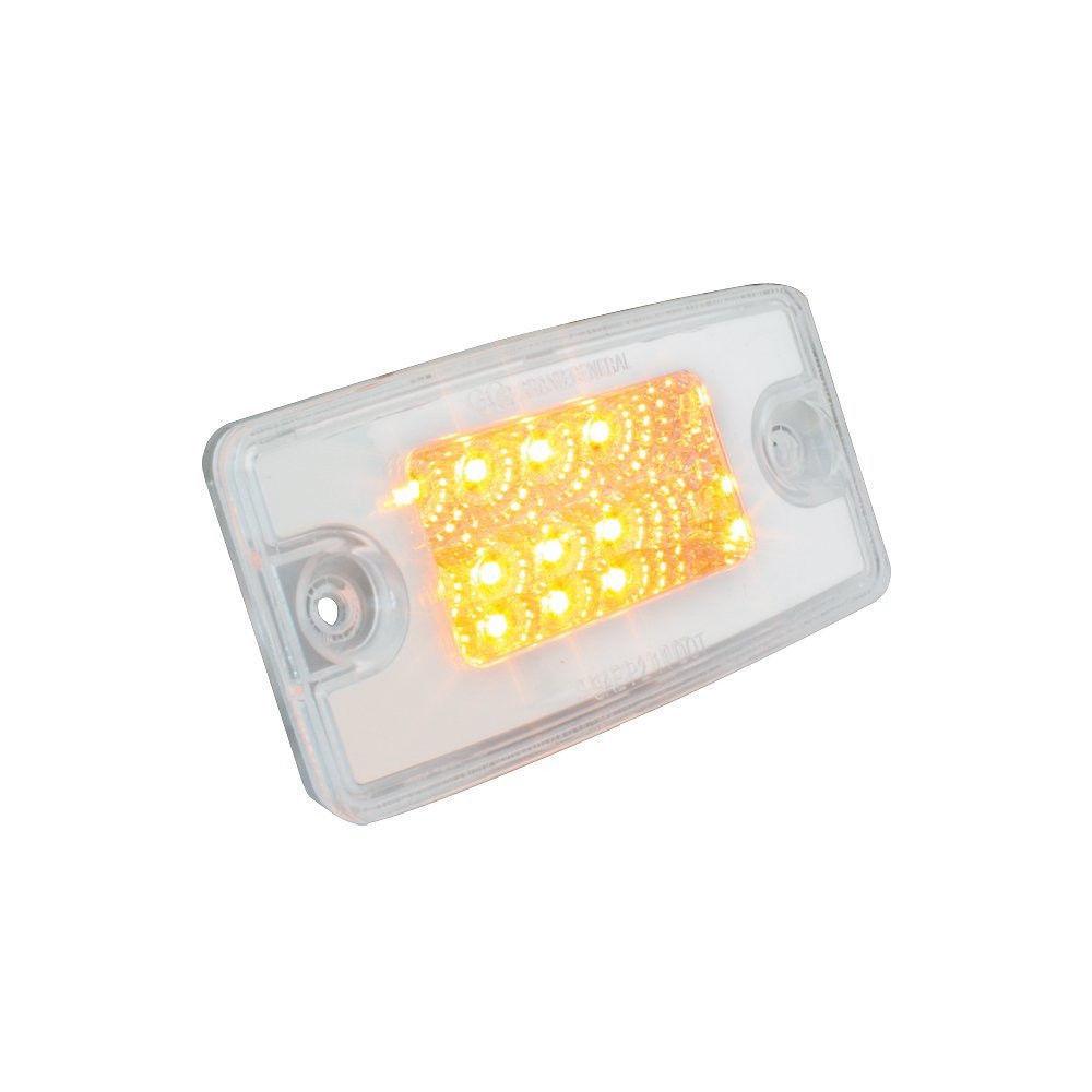 rectangular spyder cab marker light with amber