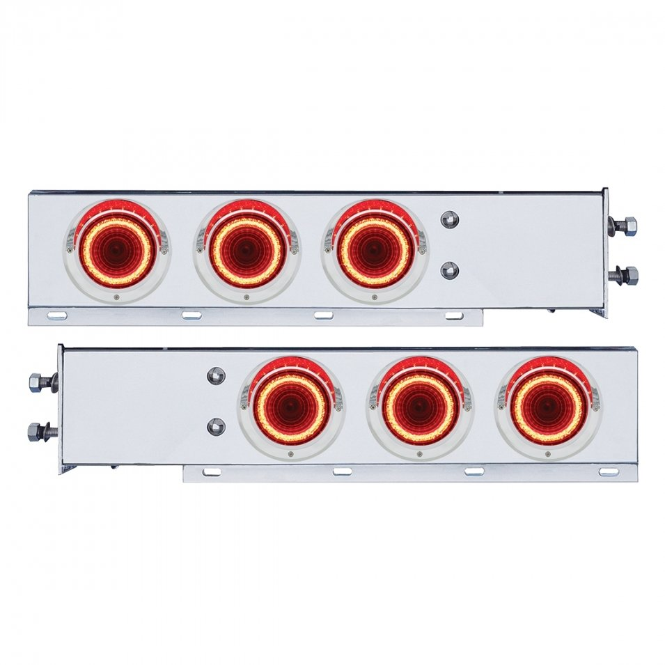 Stainless Steel Spring Loaded Mud Flap Hanger w/ Mirage LED Lights 22252
