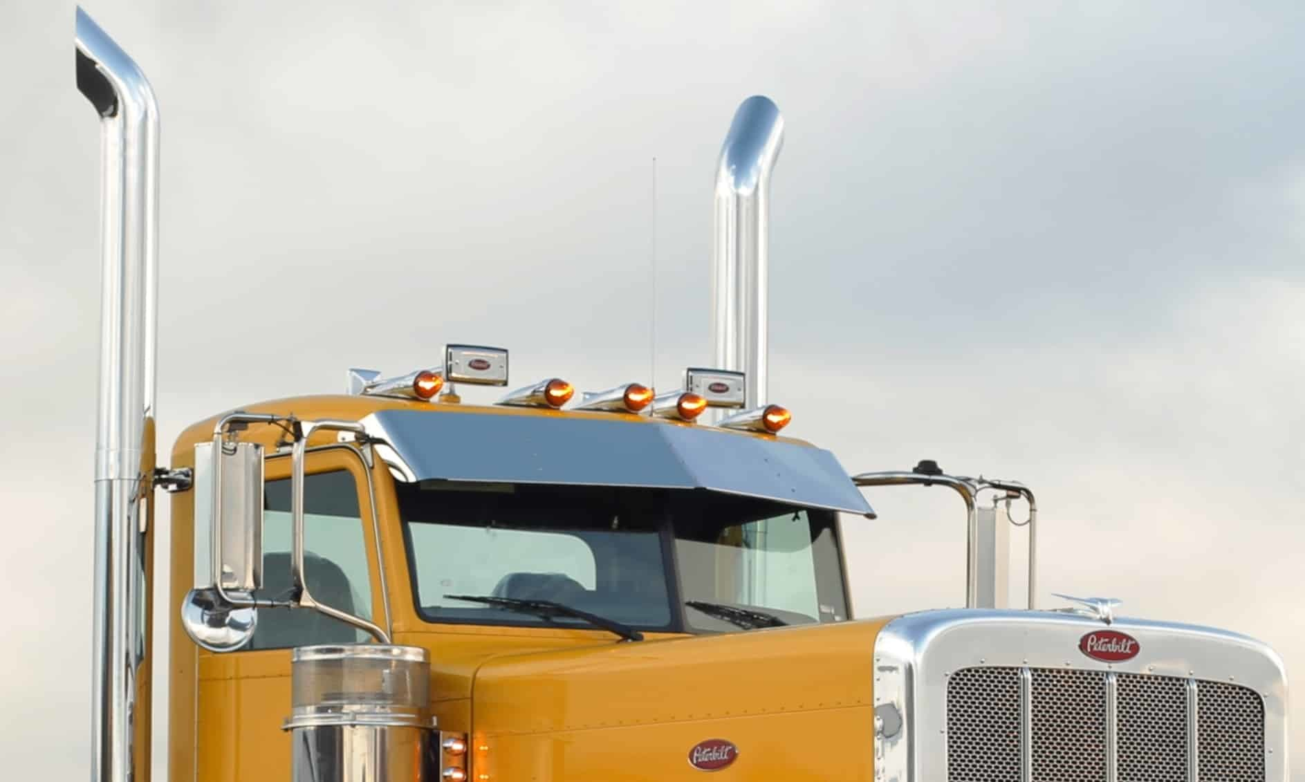 Peterbilt Flat Top Drop Visor