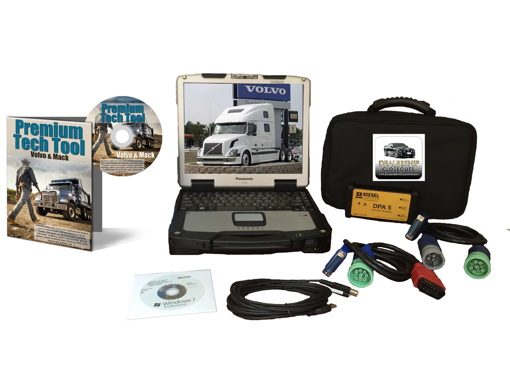 & volvo premium tech tool diesel diagnostic toughbook dealer kit