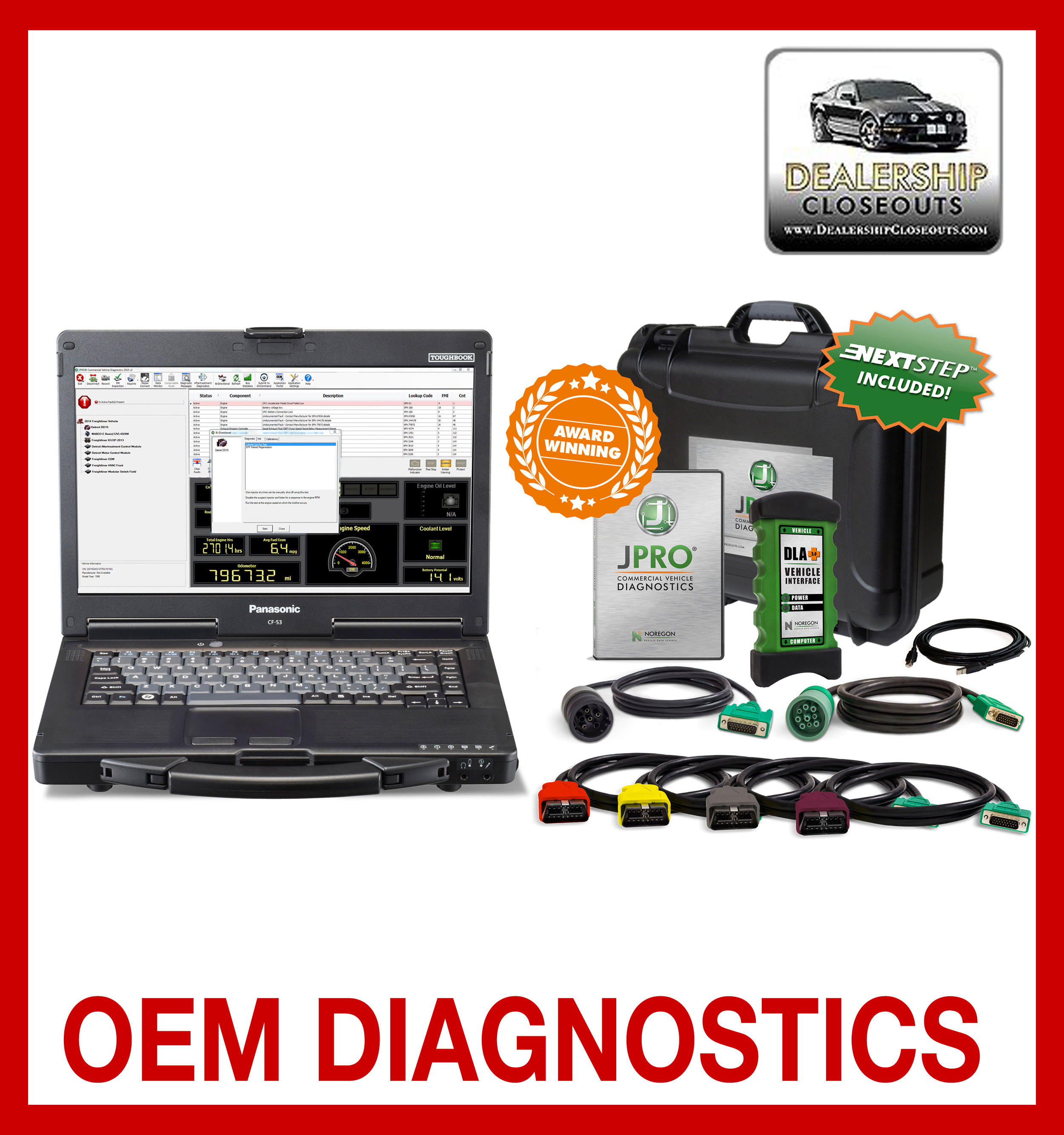 JPro Professional Diagnostic Toolbox with Next Step 00151