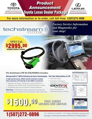 Toyota Techstream Dealer Toughbook Package Toyota Lexus Includes Programming Tis to Web