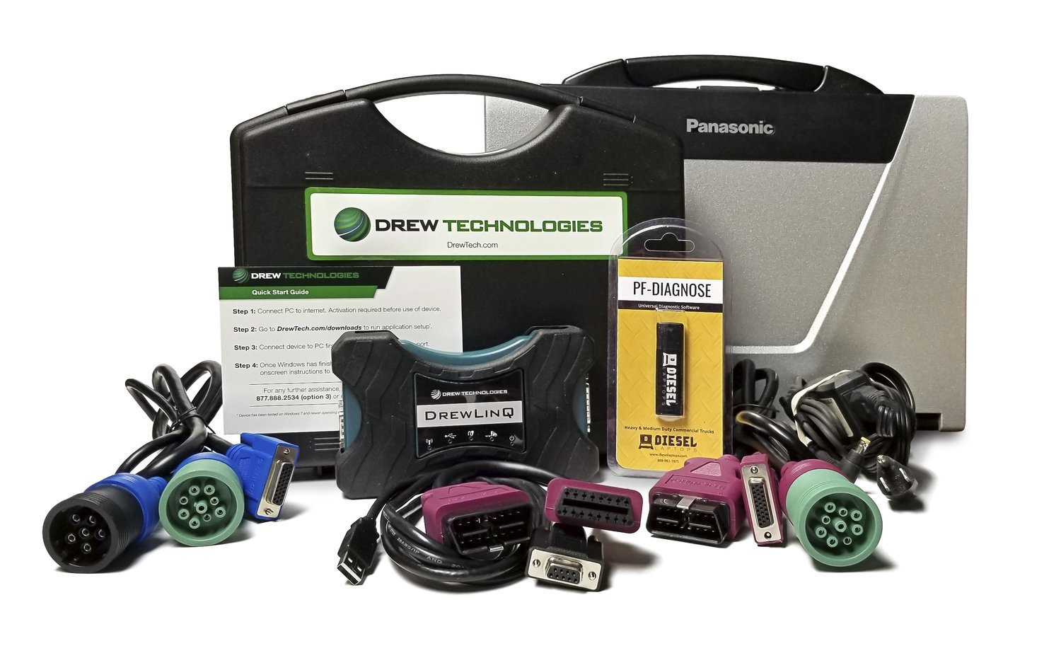 Drewlinq Heavy Duty Truck Diagnostic Kit 000001