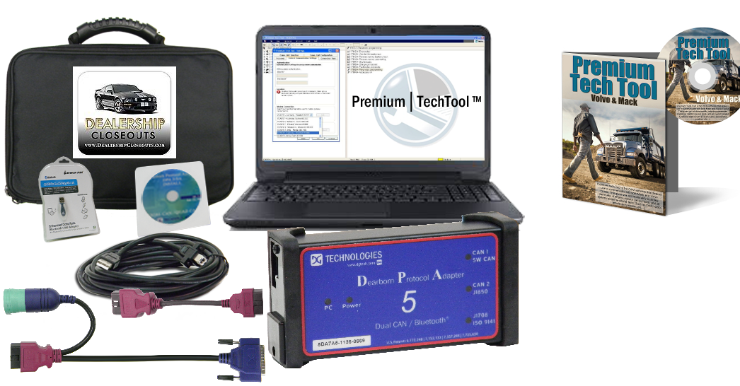 Mack & Volvo Premium Tech Tool with Diesel Diagnostic Laptop 0030