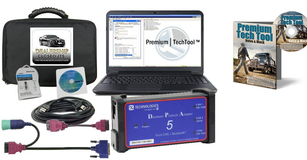 mack volvo premium tech tool with diesel diagnostic laptop