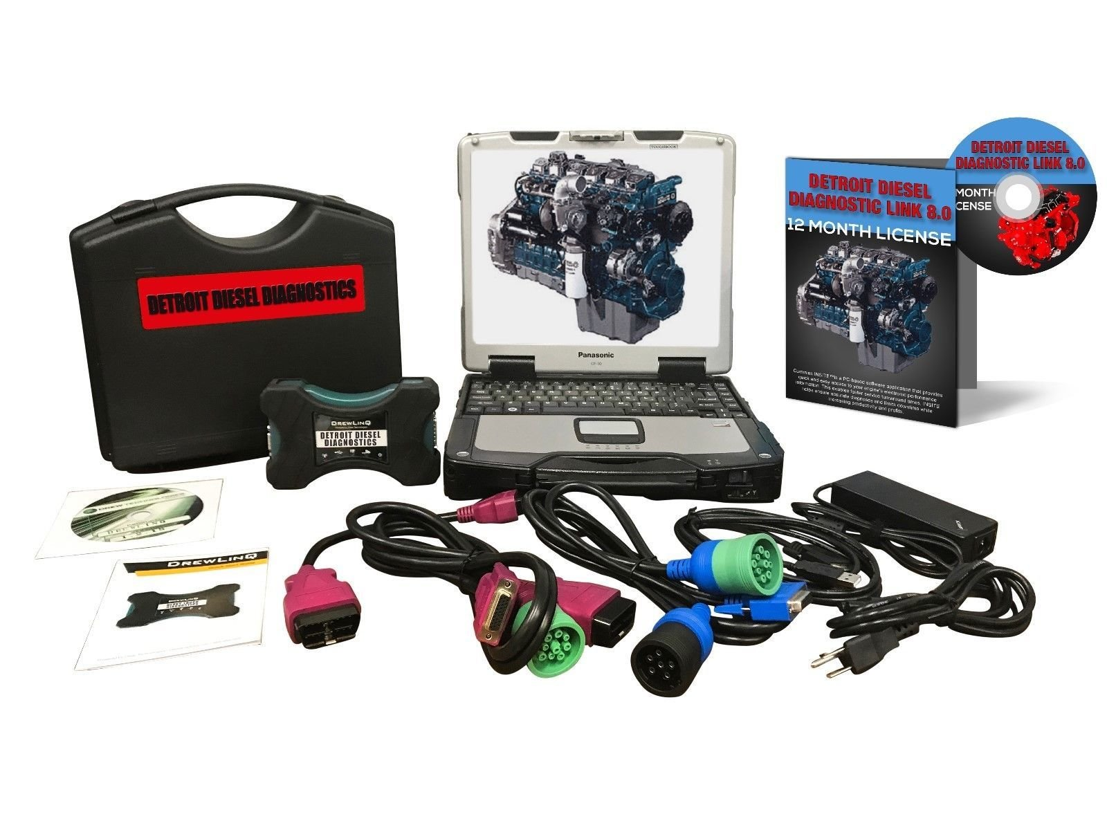 Detroit Diesel DDDL 8.0 Dealer Diagnostic Toughbook Package Nexiq 124032 00199