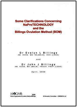 Some Clarifications Concerning NaPro TECHNOLOGY and the Billings Ovulation Method (BOM)DOWNLOAD