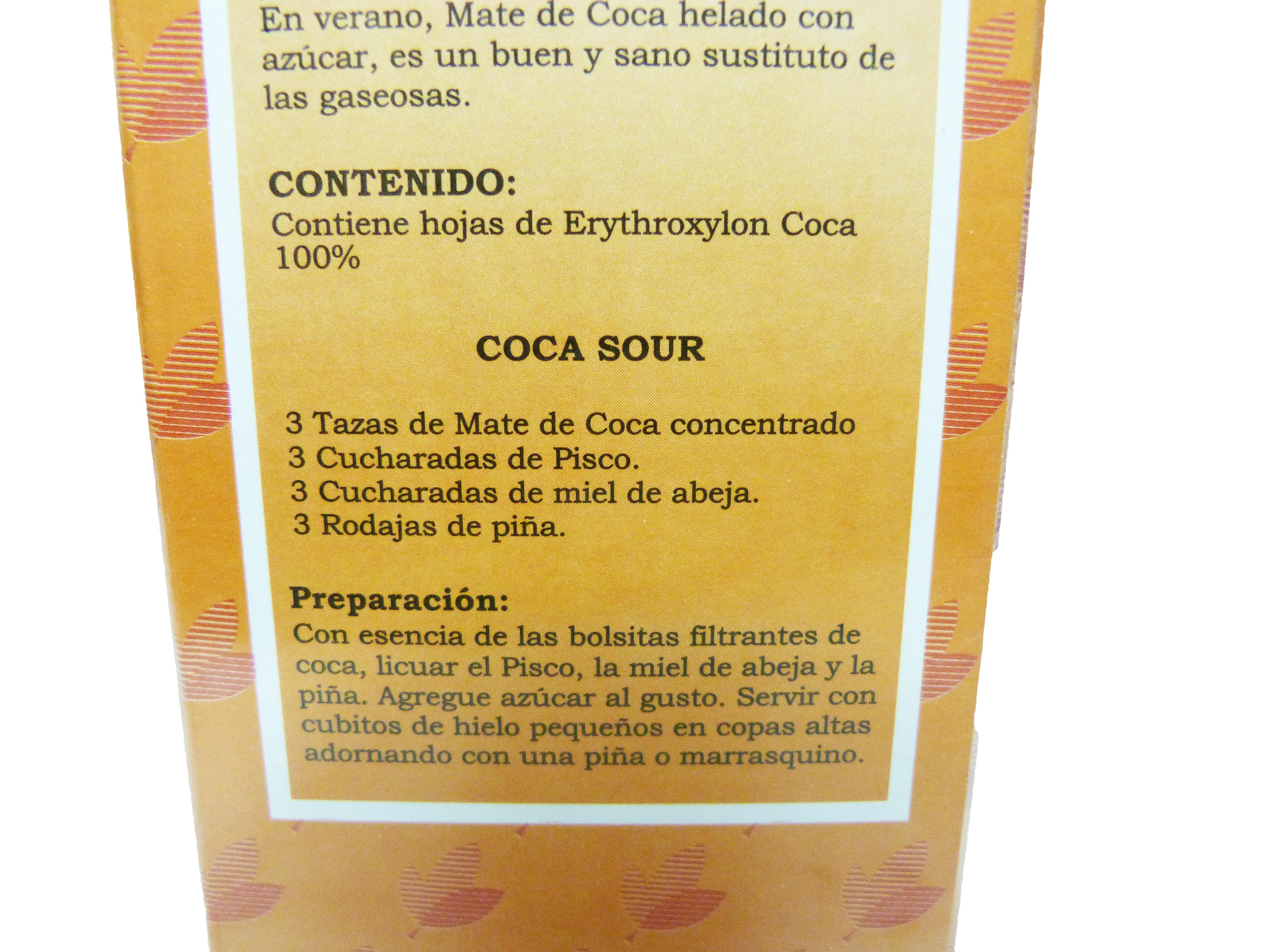 Delisse Coca Tea (Mate de Coca) - 100 count