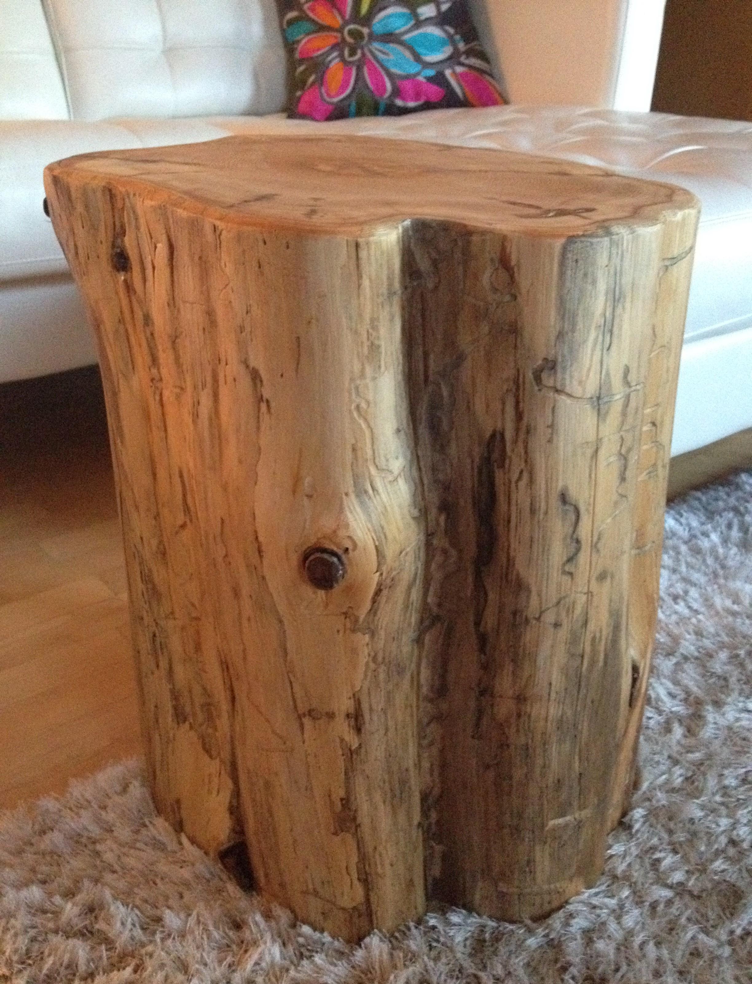 Stump Side Table Log Side Tables Rustic Coffee Table