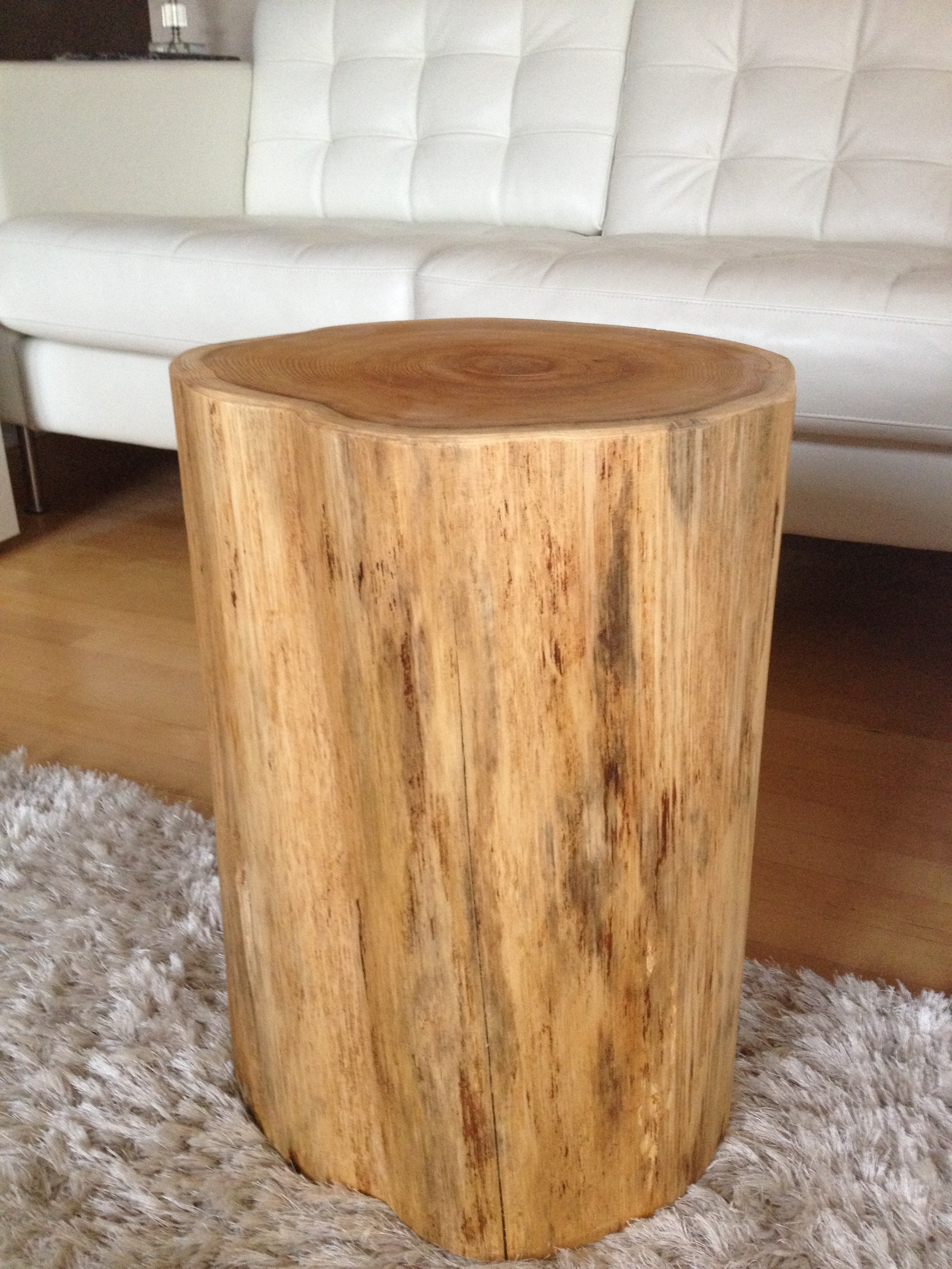 Stump side table log side tables rustic coffee table for Wood stump end table