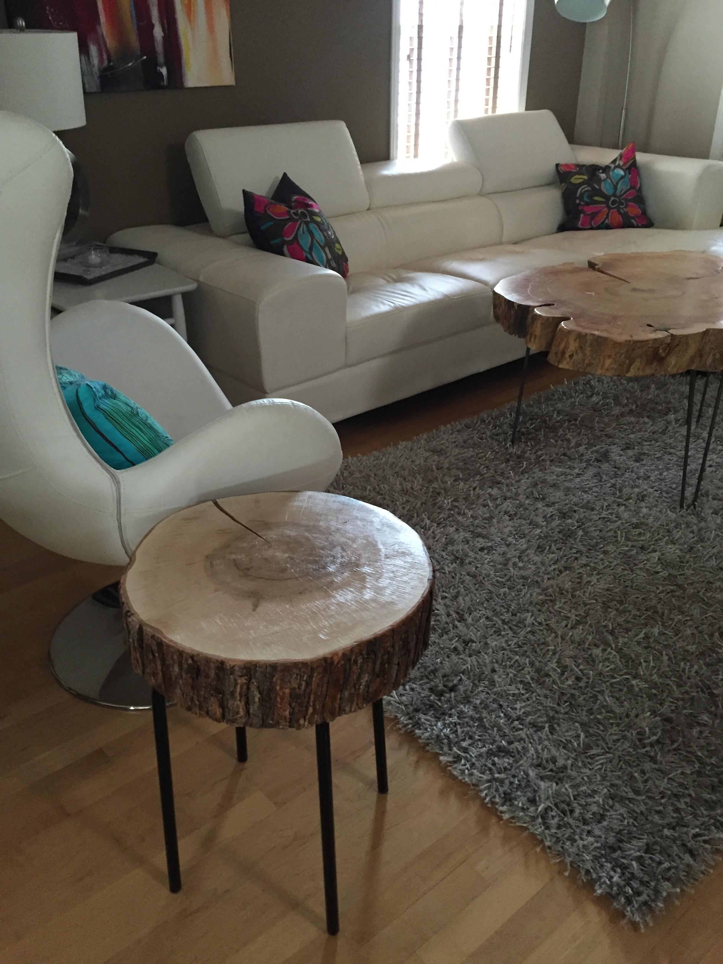 Stump Side Table Stump Coffee Table Stump With Metal