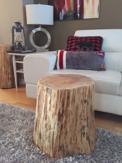 Stump Side Table, Log Side Tables, Rustic Coffee Table, Tree Trunk Table,  Wood Block Furniture