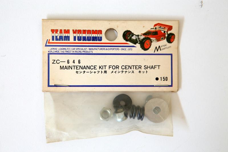 ZC646 YOKOMO MAINTENANCE KIT FOR CENTER SHAFT