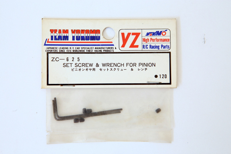 ZC625 YOKOMO SET SCREW AND WRENCH FOR PINION