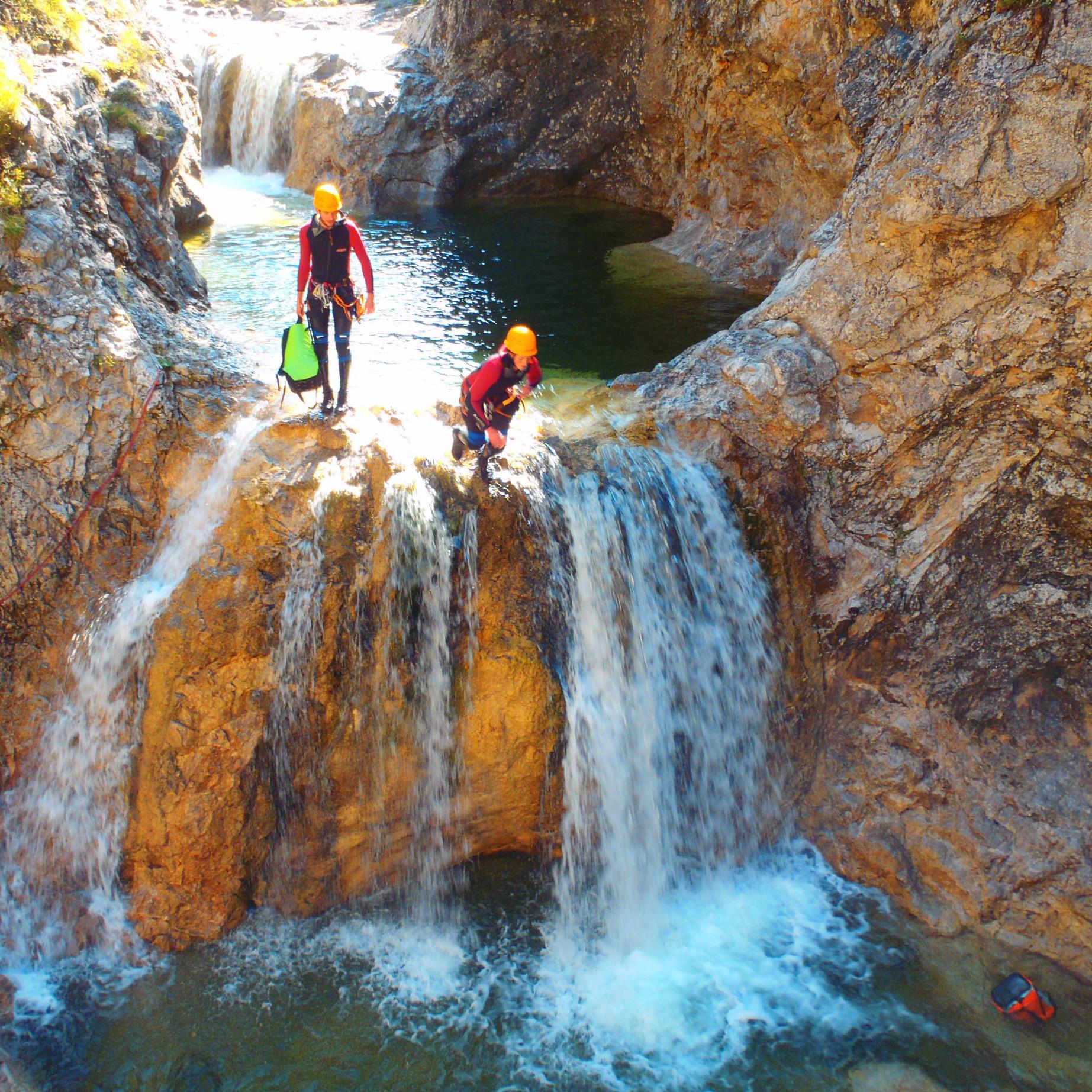 Canyoning Fortgeschrittenentour Stuibenfälle CFS