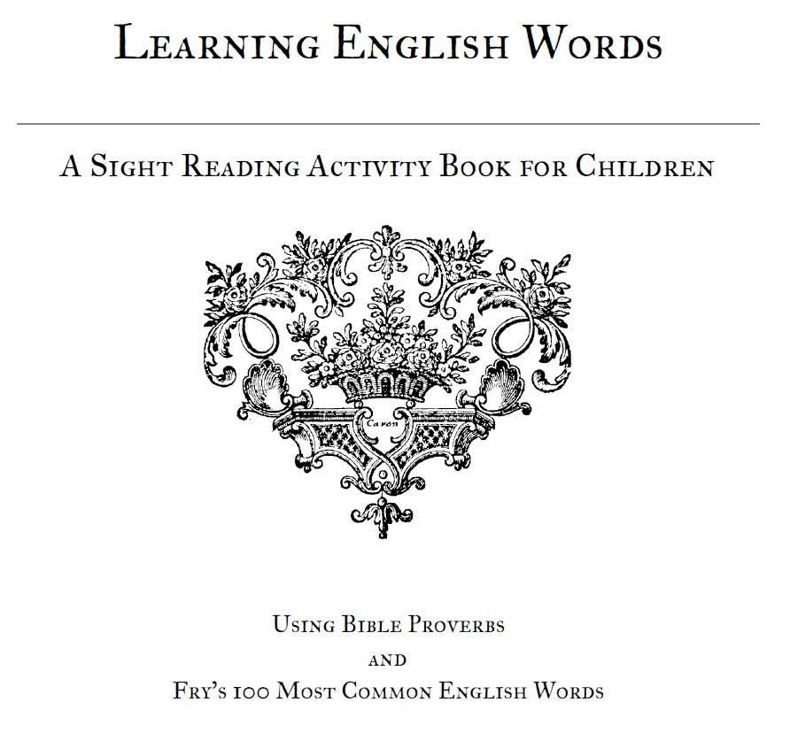 Printable Activity: Learning English Words with the Proverbs