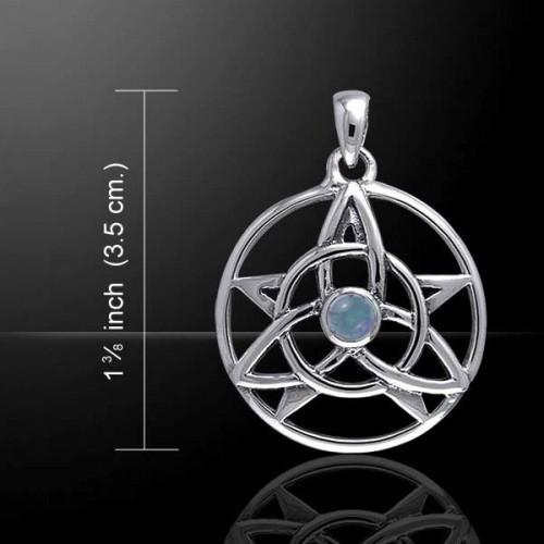 Druid Pendant with Rainbow Moonstone