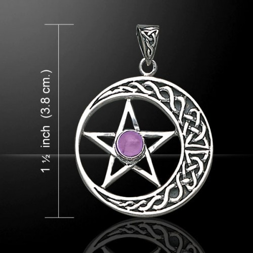 Celtic Moon & Pentacle Pendant