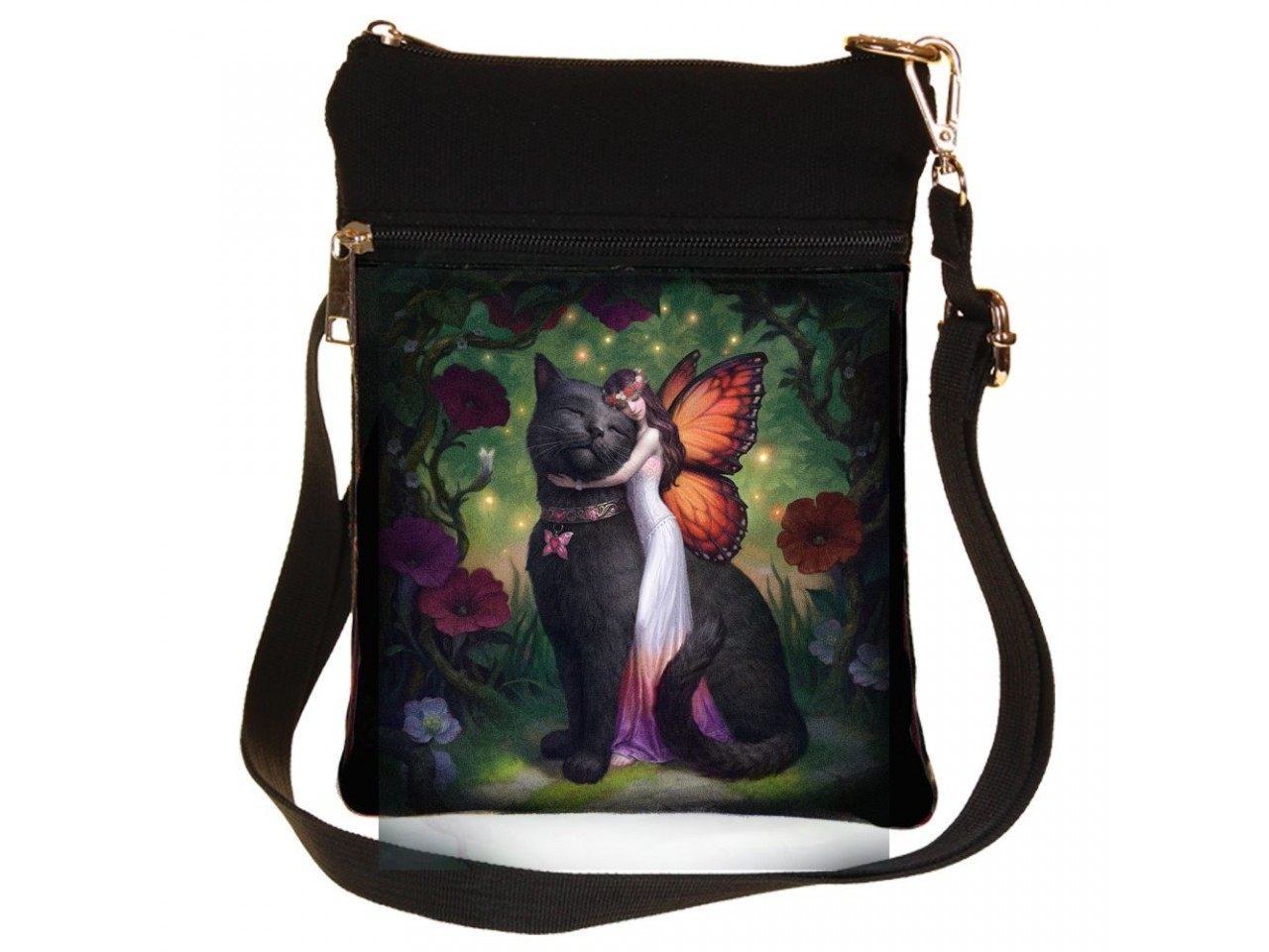 Cat and Fairy - Cross Body Bag