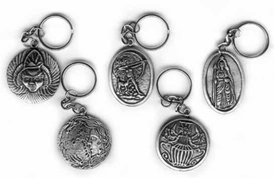 Pewter Keyrings (Goddeses)