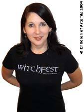 Witchfest black short sleeved skinny T-shirt