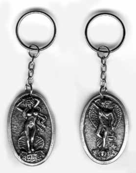 Pewter Keyrings (Greek)