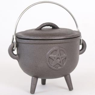 Cast Iron Cauldron with Pentagram