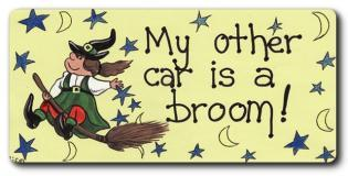 My other Car is a Broom Fridge Magnet