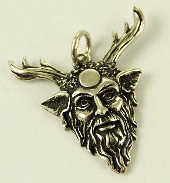 Pendant Silver Horned God