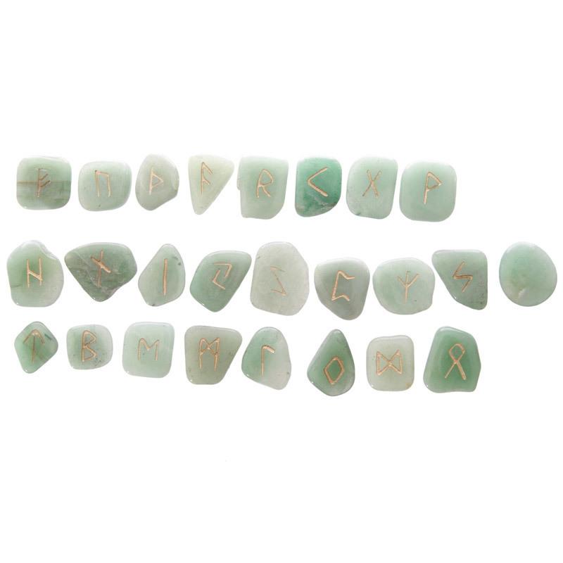 Rune Stones - Green Aventurine