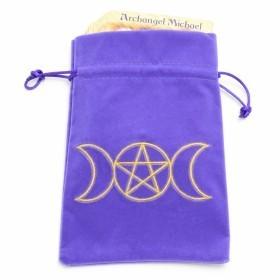 Velvet Triple Moon Goddess Bag - Purple