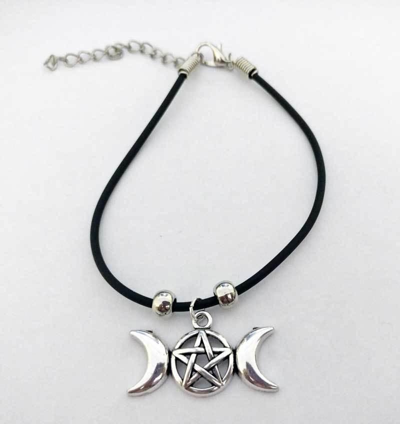 Triple Moon Charm Bracelet
