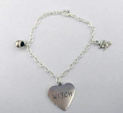 Witch Chain Charm Bracelet