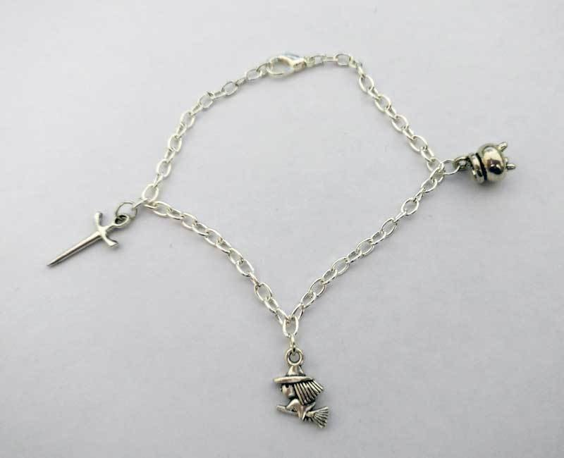 Witch tools Chain Charm Bracelet