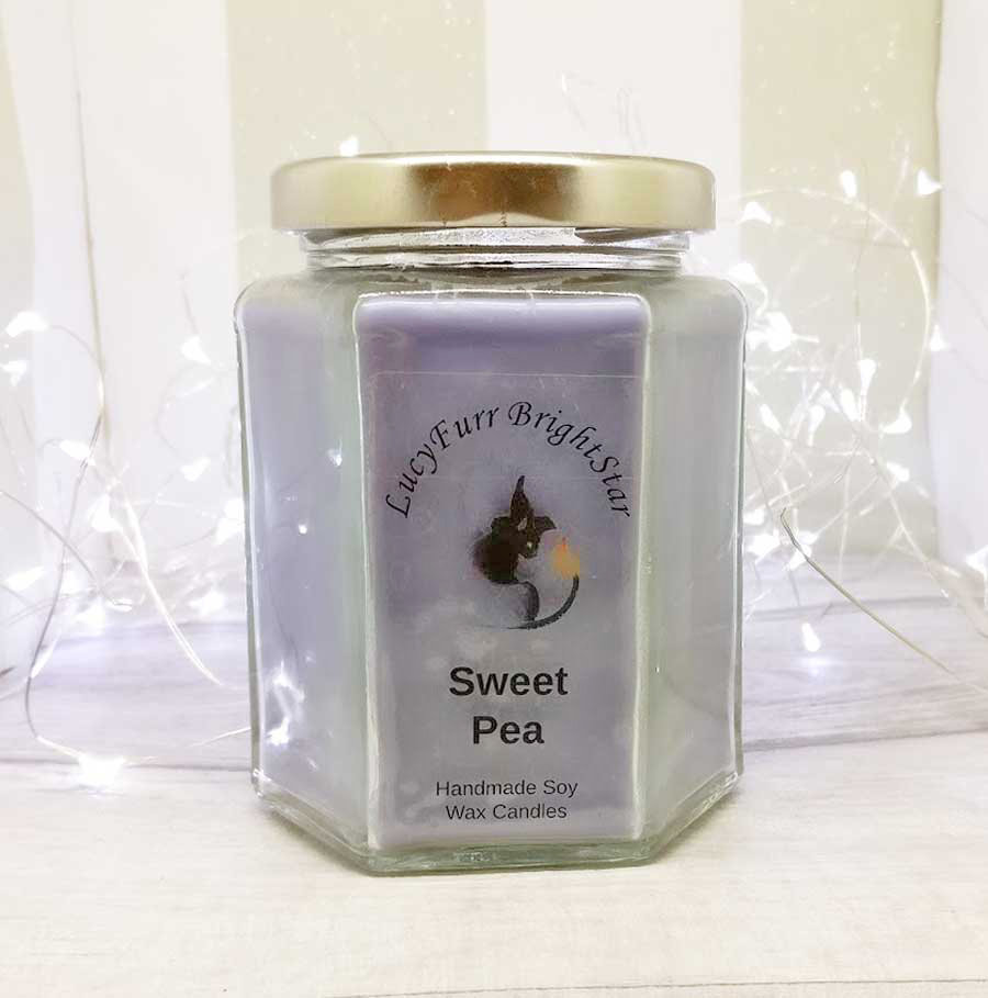 Sweet Pea Jar Candle