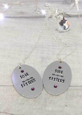 Soul Sisters Metal Stamped Necklace Set