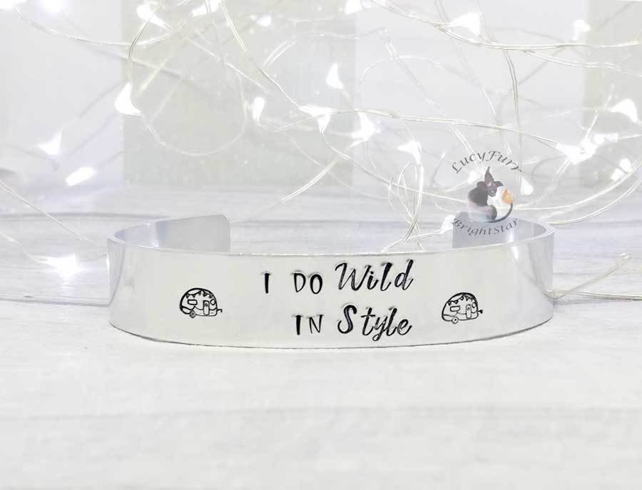 I do Wild in Style Metal Stamped Cuff Bracelet