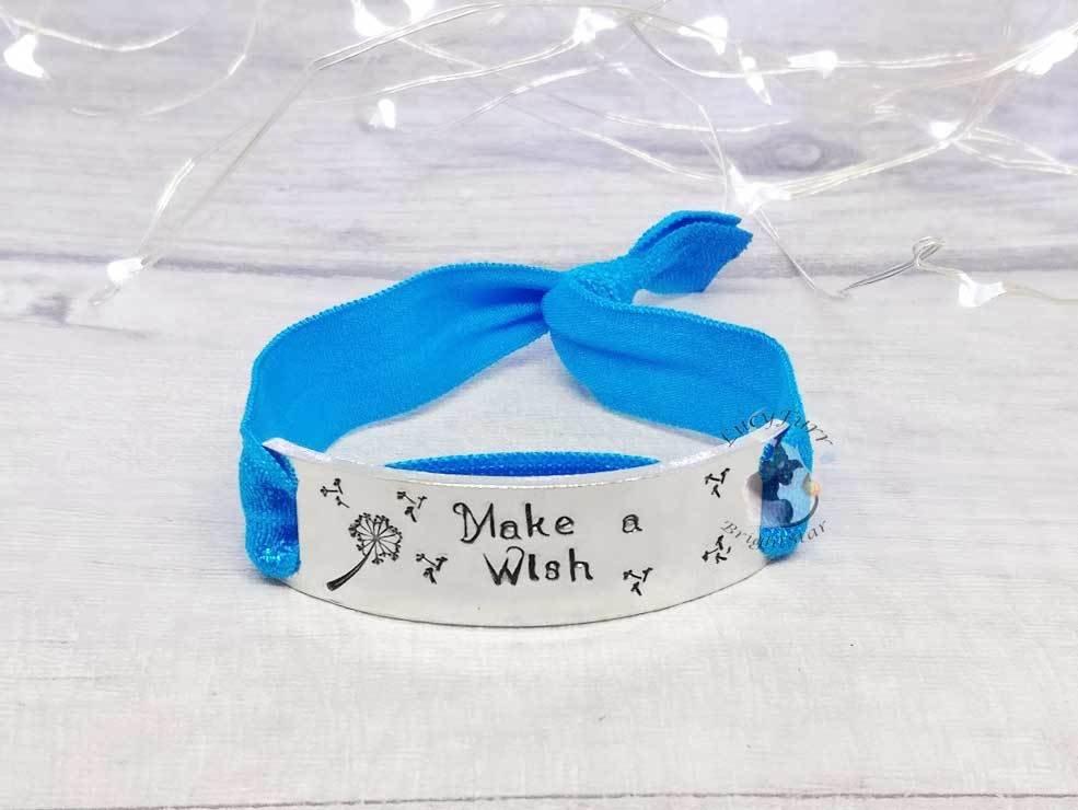 Make a Wish Metal Stamped Elasticated Bracelet