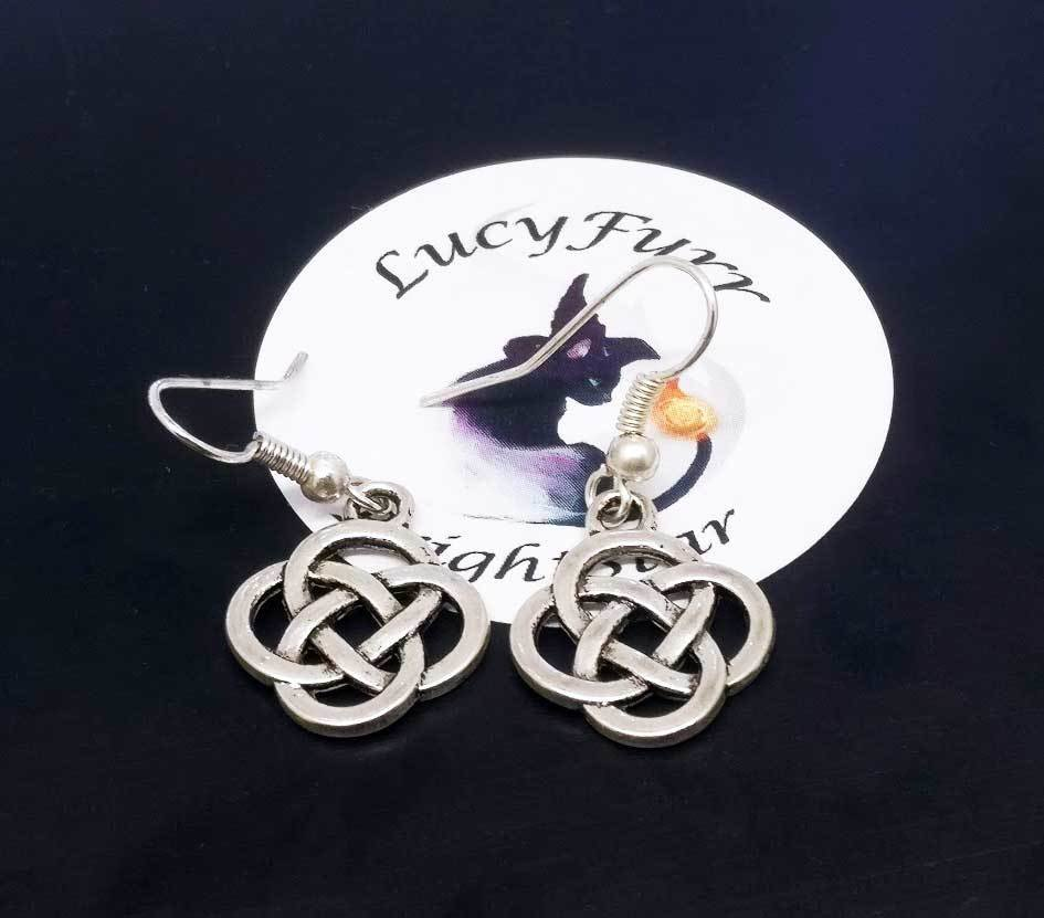 Celtic Knot Dangle Earrings