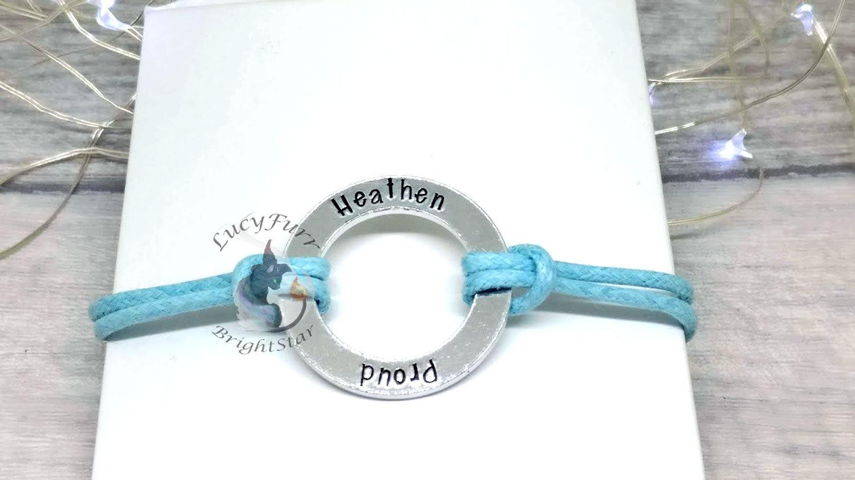 Proud Heathen Metal Stamped Bracelet