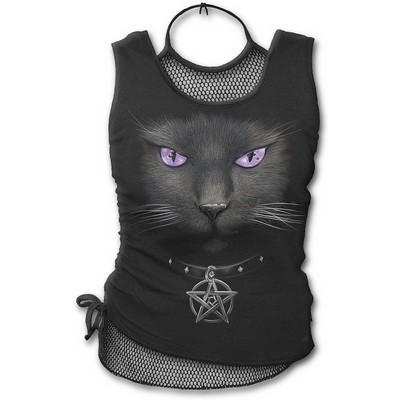 Black Cat - Neck Tie Top