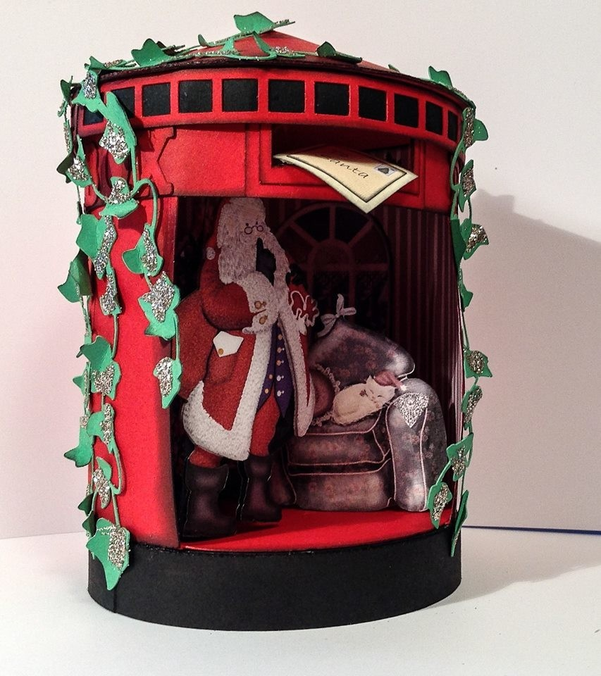 Santa's Christmas Post Box 3d model - 8 inches high and 6 inches wide