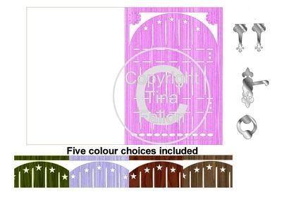 Fairy Door Card templates print n cut * Set 2 *