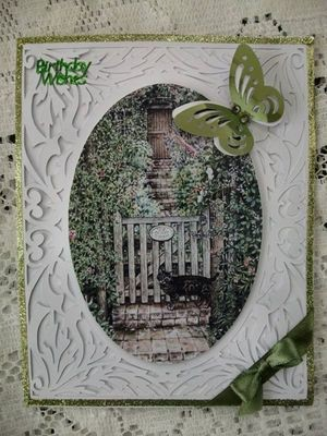 All In One Card, Flourish with Garden Gate PNC