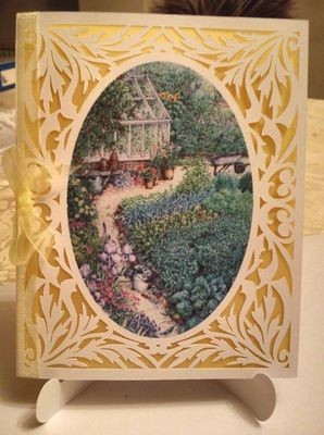 All In One Card, Flourish with Garden Scene PNC
