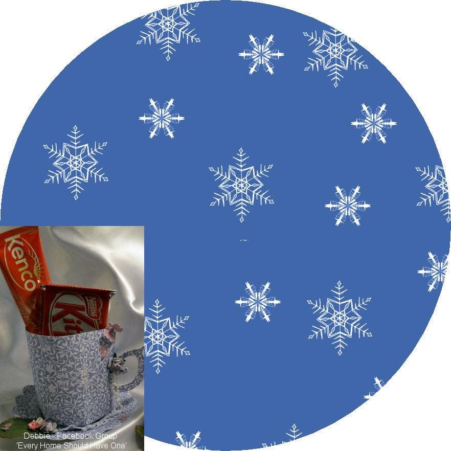 Christmas Snowflakes Mug and Saucer Set (blue option)