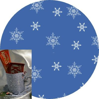 Christmas Snowflakes Mug and Saucer Set (blue option)