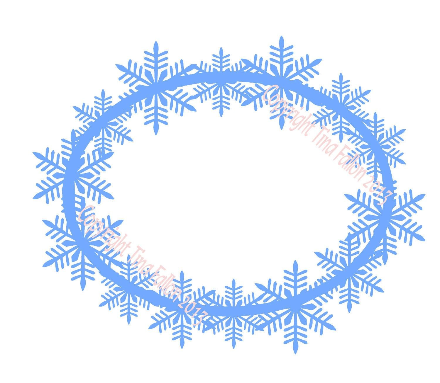 Frosty Kissed Snowflake 11 Topper/ Frame
