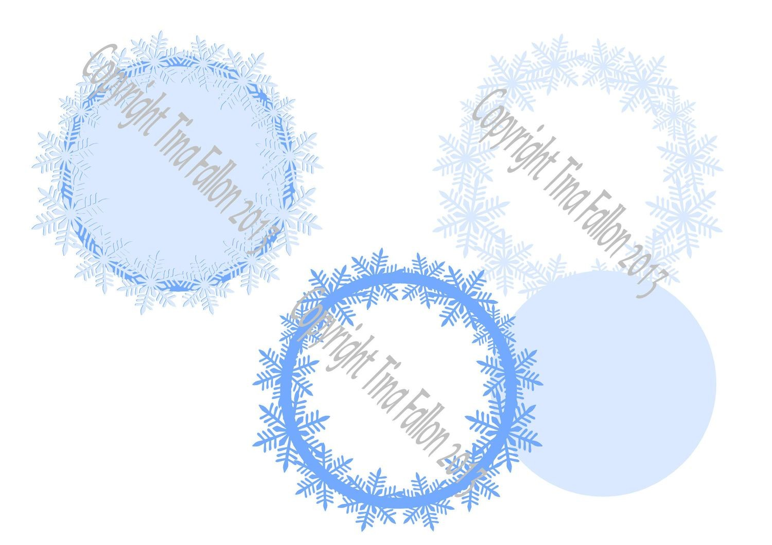 Frosty Kissed Snowflake 2  Topper
