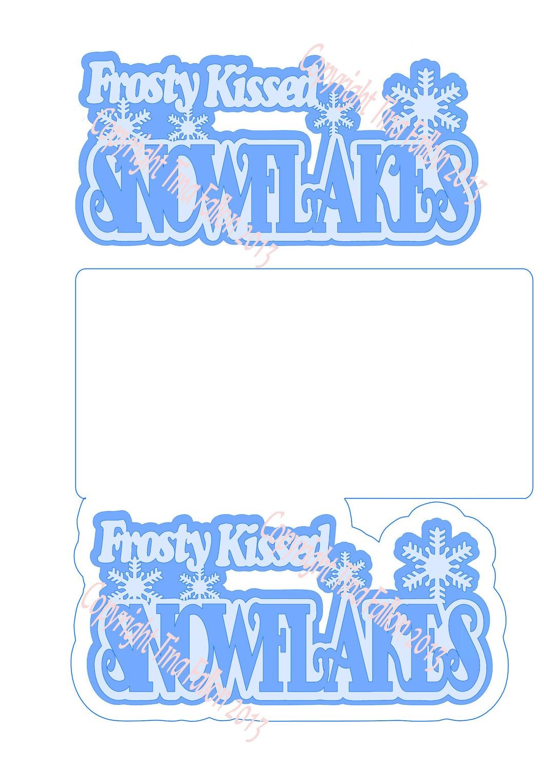 Frosty Kissed Snowflake 9 Card Template